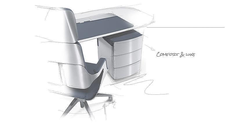 Schets Speciale Bureaustoelen