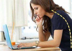 Verkeerde werkhouding laptop