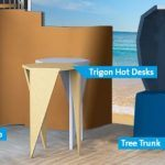 Lande Rondo toro trigon hot desk tree trunk