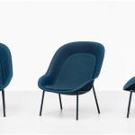 De Vorm Nook Chair EM kantoorinrichting Gerecycelde Loungechair PET Vilt 3