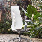 Haworth Fern bureaustoel wit groen met varen