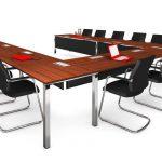Wini PRO flexibele vergadertafel 4 poots met frontpaneel