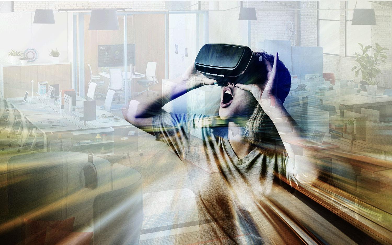 Kantoorinrichting bekijken in virtual reality