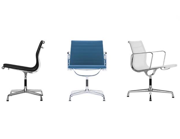 Vitra Eames Aluminium Chairs EA 105-107-108
